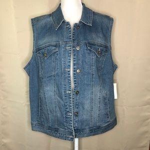 Style & Co Denim Woman Jean Vest